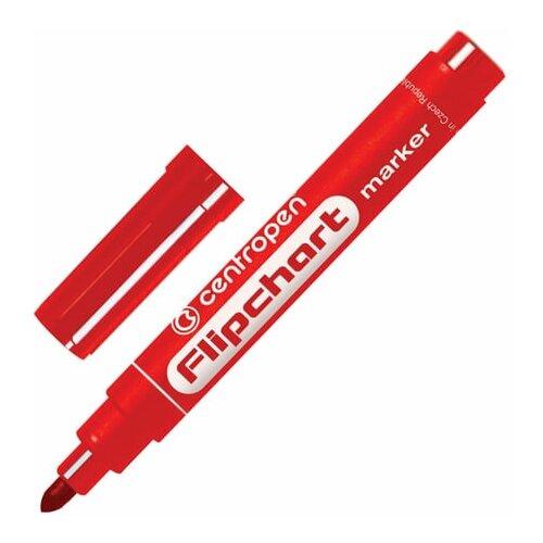 Купить Маркер для флипчарта красный CENTROPEN, непропитывающий, круглый наконечник, 2, 5 мм, 8550, 5 8550 0104, 6 шт., Маркеры