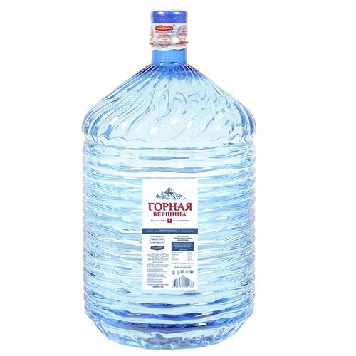 Вода питьевая Горная вершина 19 литров, одноразовая тара вода питьевая горная вершина негазированная 1 5 л
