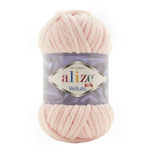 Купить Пряжа для вязания Ализе Velluto (100% микрополиэстер) 5х100г/68м цв.340 пудра, Alize