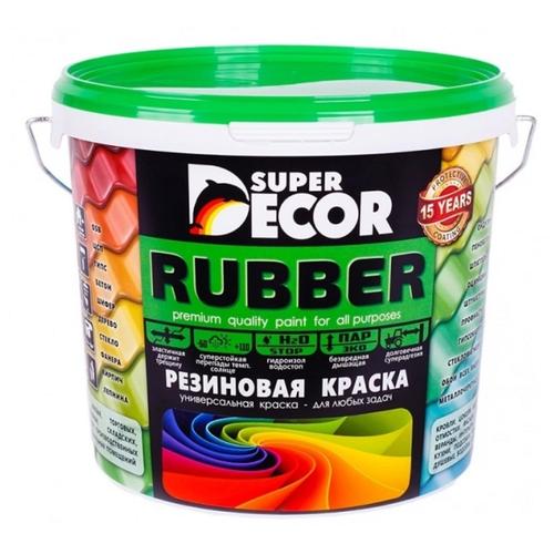 Краска акриловая Super Decor Резиновая краска ВД-АК-103 влагостойкая моющаяся матовая оргтехника 6 кг оргтехника