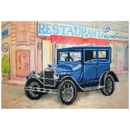 Набор вышивки бисером «Ретро Форд», 38x26 см, Паутинка