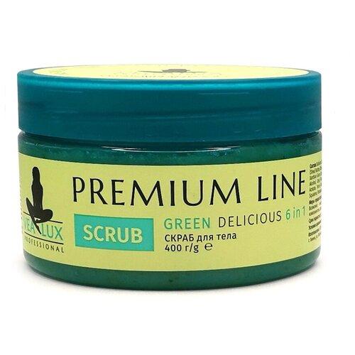 Скраб для тела Vealux / 6 в 1 Premium Line Green Delicious 400г.
