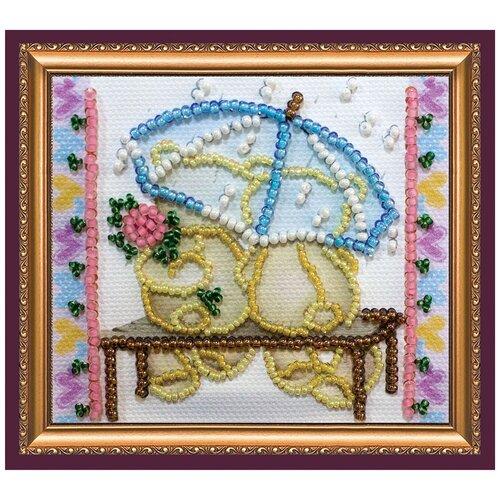 Купить Набор для вышивания с магнитом АБРИС АРТ AMA-166 Зонтик и цветок 8х7 см, ABRIS ART, Наборы для вышивания