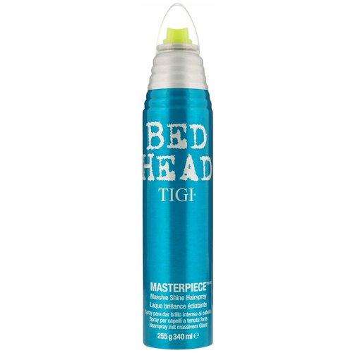 TIGI Спрей для укладки волос Bed head Masterpiece Massive Shine, сильная фиксация, 340 мл tigi лак для блеска и фиксации masterpiece bed head 340 мл