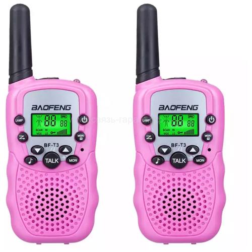 Baofeng BF-T3 розовый (2 радиостанции)