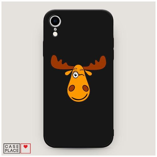 Чехол силиконовый Матовый iPhone XR (10R) Лось палата 6