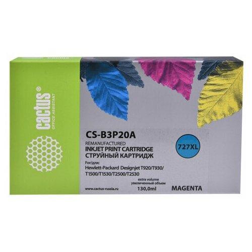 Фото - Картридж струйный CACTUS (CS-B3P20A) для HP DesignJet T920/T1500/T2530, пурпурный, 1 шт. картридж струйный cactus 727 cs b3p20a пурпурный 130мл для hp dj t920 t1500 t2530