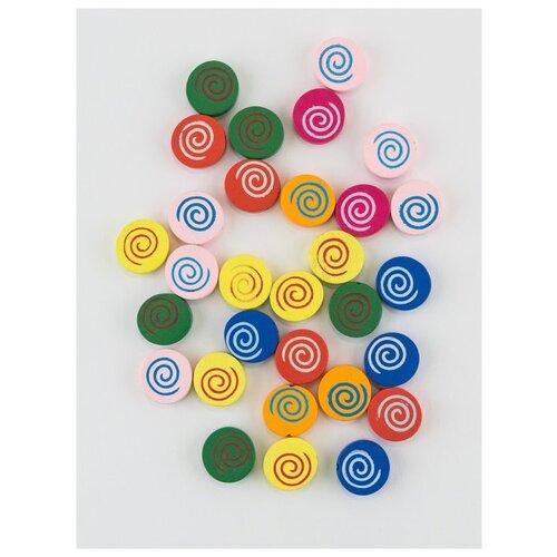 Бусины деревянные 40г 16х16х5 мм., MG-B, Magic 4 Hobby, желтый, синий бусины деревянные детские 40 г mg b magic 4 hobby желтый зеленый