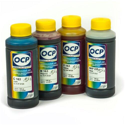 Фото - Чернила (краска) OCP для картриджей HP: 123 100x4 чернила краска для заправки принтера hp envy 5532 набор оптима