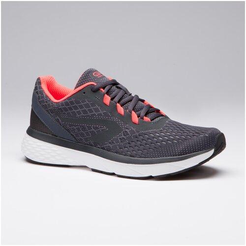 Кроссовки для бега женские RUN SUPPORT серые-коралловые, размер: 40, цвет: Серая Пропасть KALENJI Х Декатлон