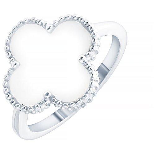 ELEMENT47 Кольцо из серебра 925 пробы с перламутром SY-355435-R_KO_SH_003_WG, размер 16.5