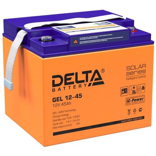 Аккумуляторная батарея Delta GEL 12-45 (12V / 45Ah) аккумулятор delta battery gel 12 55