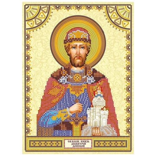Схема для вышивки иконы бисером на холсте АБРИС АРТ АСK-001 Святой Дмитрий 17х23см