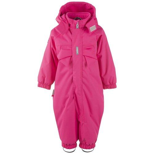 Купить Комбинезон для девочек TIIA K21004-265, Kerry, Размер 92, Цвет 265-малиновый, Теплые комбинезоны