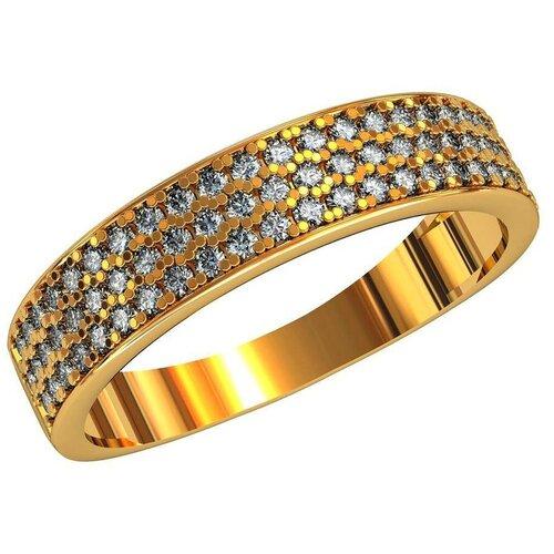Фото - Приволжский Ювелир Кольцо с 47 фианитами из серебра с позолотой 246801-FA11, размер 19 приволжский ювелир кольцо с 65 фианитами из серебра с позолотой 252119 fa11 размер 19 5