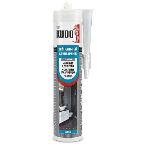 Фото - Герметик силикон. KSK-131 нейтральный санитарный белый 280 МЛ (12) KUDO герметик силиконовый kudo ksk 121 санитарный белый 280 мл
