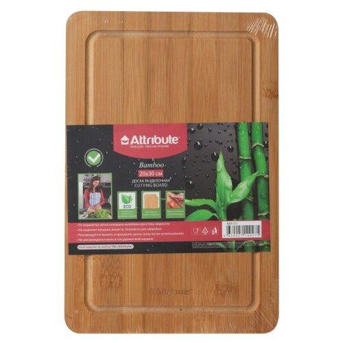 Фото - Доска разделочная Attribute Bamboo 20x30cm ABX151 attribute гладильная доска