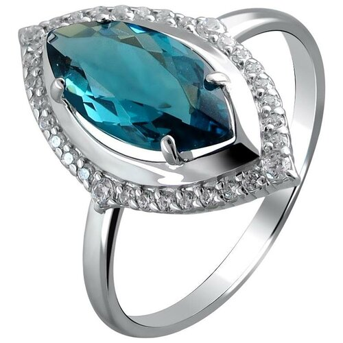 Фото - Эстет Кольцо с фианитами и кристаллом swarovski из серебра С22К251240, размер 17 эстет кольцо с кристаллом swarovski и фианитами из серебра с22к250029 размер 17 5