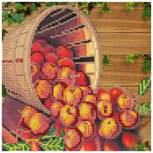 Купить Схема на холсте АБРИС АРТ АС-441 Яблочный Спас 20х20 см, ABRIS ART, Наборы для вышивания
