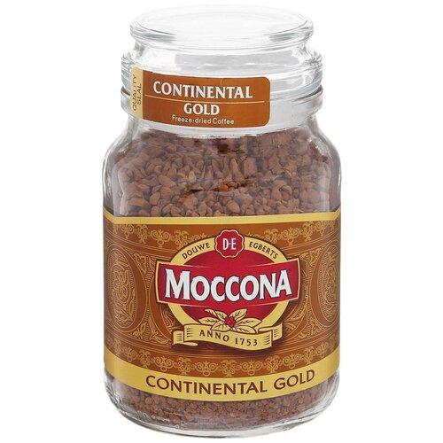 Кофе растворимый Moccona Continental Gold сублимированный, стеклянная банка, 95 г кофе растворимый черная карта gold стеклянная банка 95 г