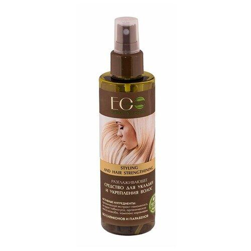 Фото - ECO Laboratorie Средство для укладки и укрепления волос Разглаживающее, 200 мл eco laboratorie бальзам питательный для слабых и секущихся волос 200 мл
