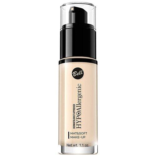 Bell Тональный флюид HypoAllergenic Mat&Soft Make-Up, 30 г, оттенок: 01 light beige недорого