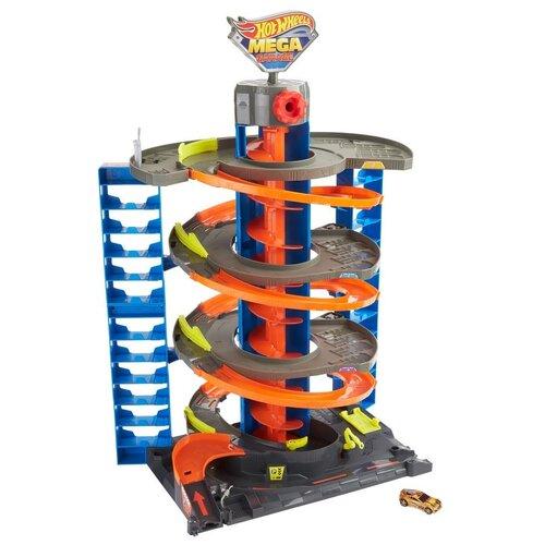 Hot Wheels Сити Мега Гараж (GTT95/GTT95), серый/оранжевый/голубой