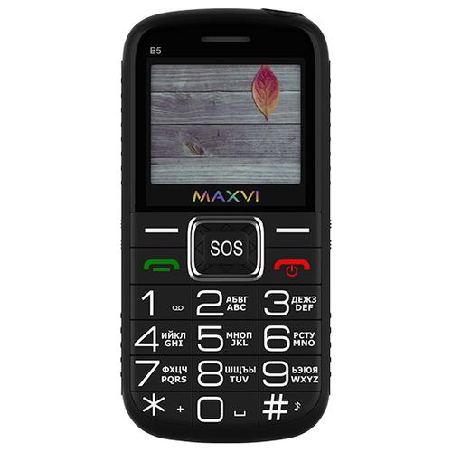 Фото - Телефон MAXVI B5, черный сотовый телефон maxvi b5 grey