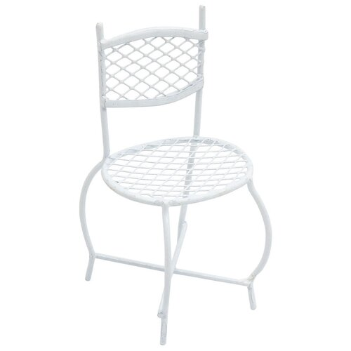 KB3471-RU Металлический мини стул, белый 4,3*3,5*4*7,5см Астра
