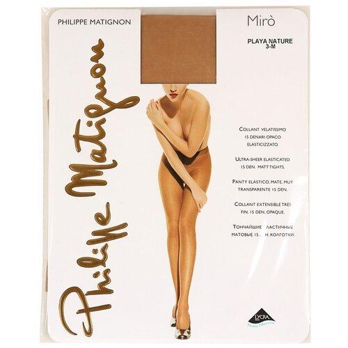 Колготки Philippe Matignon Miro цвет натуральный бежевый 15 den Philippe Matignon размер 3 Италия philippe audibert колье jayde philippe audibert