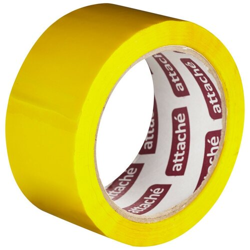 Фото - Клейкая лента упаковочная ATTACHE 48мм х 66м 45мкм желтый 2 шт. клейкая лента коричневая unibob 48мм 66м 45мкм 6 шт в упаковке