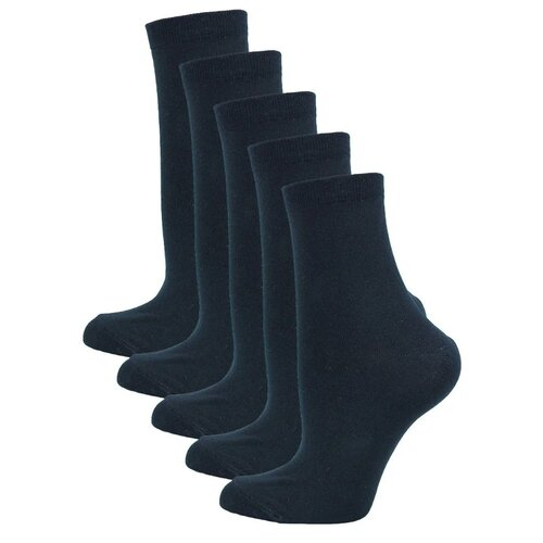 Носки Годовой запас носков Классика, 5 пар, размер 25 (39-41), черный