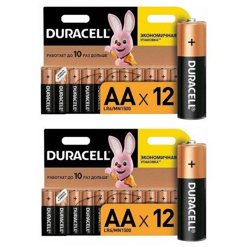 Батарейка Duracell Basic AA, 24 шт. батарейка duracell basic aa 6 шт блистер