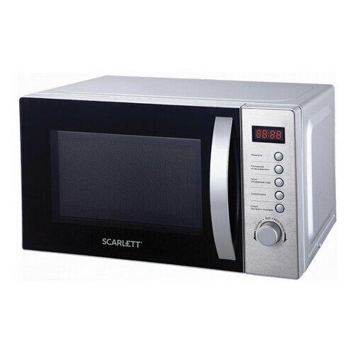 Микроволновая печь SCARLETT SC-MW9020S10D, 20 л, 700 Вт, электронное управление, таймер, серебро