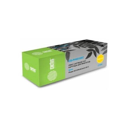 Фото - Картридж лазерный Cactus 106R03485 CS-PH6510C голубой (2400стр.) для Xerox Phaser 6510DN/WC 6515DN картридж cactus cs ph6000bk для xerox 6000 6010 черный 2000стр