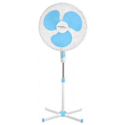 Вентилятор напольный Scarlett SC-SF111B23, голубой, белый SC-SF111B23