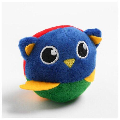 Крошка Я Развивающая, мягкая игрушка - мячик «Совушка», с погремушкой, в сумочке