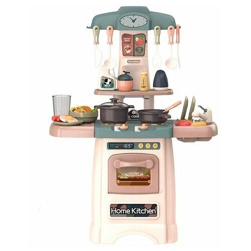 Кухня со звуком, светом и водой 29 предметов, высота 62см BL0068 большой набор кухня с посудой и продуктами 55 предметов со светом звуком и водой 82см