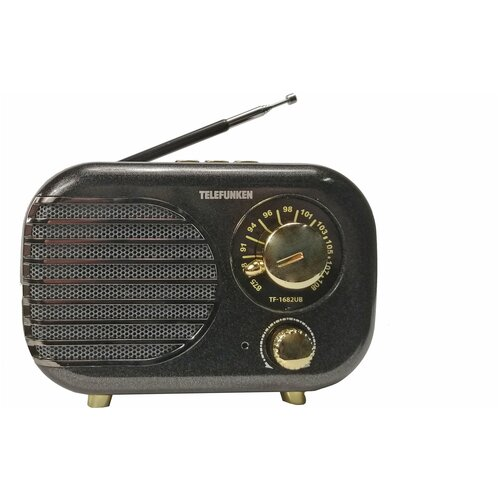 TELEFUNKEN Радиоприемники TF-1682B(черный с золотым) радиоприёмник telefunken tf 1682b черный золотистый