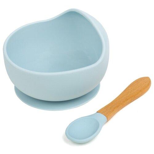 Детская Посуда для малышей / Силиконовая Посуда для самых Маленьких / Посуда для обучения