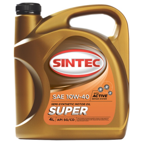 SINTEC 801894 Масло моторное полусинтетическое SUPER 10W40 API SG/CD 4л