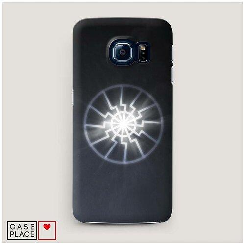 Чехол Пластиковый Samsung Galaxy S7 Черное солнце