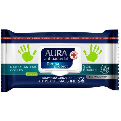 Фото - Салфетки влажные «Aura» антибактериальные, 72 шт салфетки влажные aura антибактериальные 20 шт