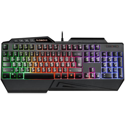 Клавиатура проводная игровая Defender Glorious GK-310L RU, USB, черный