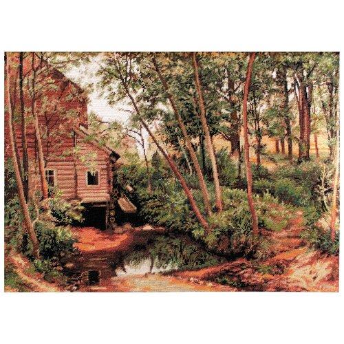 Фото - Набор для вышивания ,Мельница в лесу, Luca-S 35,5 х 24см ( G456 ) bu4022 набор для вышивания хижина в лесу 43 5 40см luca s