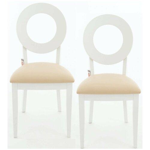 Комплект стульев Аврора Коломбо Эмаль белая, нитро крем 2 шт