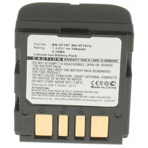 Аккумуляторная батарея iBatt 700mAh для JVC, Jvc, JVC BN-VF733U