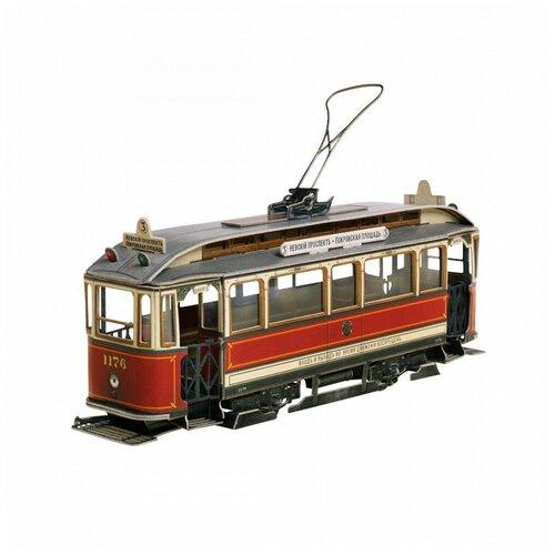 Умная бумага Сборная модель из картона 3D Пазл Петербургский трамвай