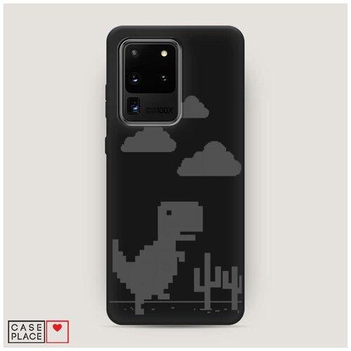 Чехол силиконовый Матовый Samsung Galaxy S20 Ultra Динозавр гугл