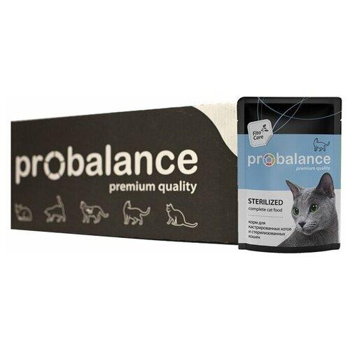 Консервированный корм для стерилизованных кошек и кастрированных котов Пробаланс Sterilized 85 г х 25 шт.